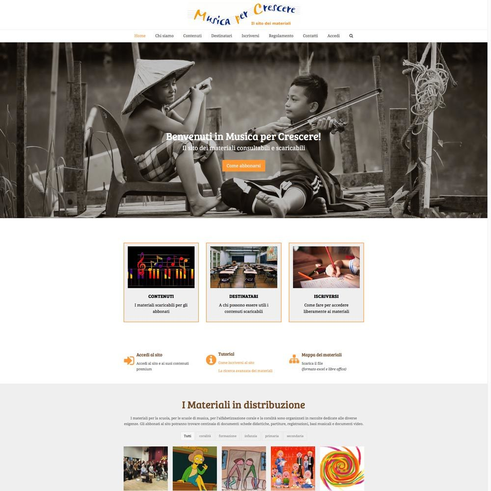 Musica Per Crescere Web-design-zen Studio Siti Web Torino